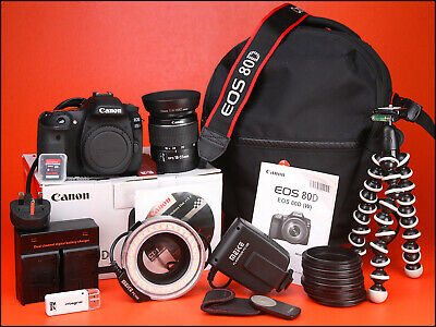 Canon EOS 80D DSLR Camera + 18-55mm Zoom Lens kit + 1234 Shots,Battery & Charger