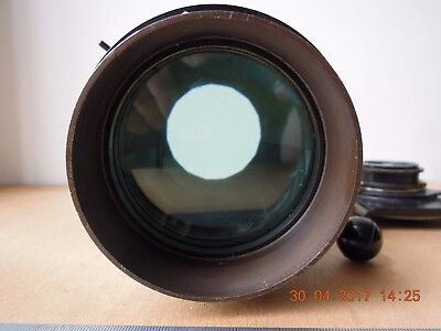 Ancien objectif photo.Top quality French vintage taking or projection lens.Rare