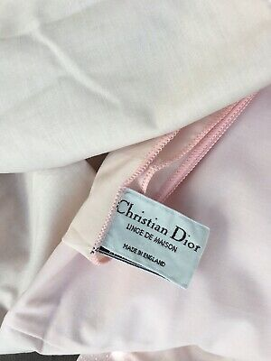 Christian Dior Single Bed Box Pleat Valance Pink