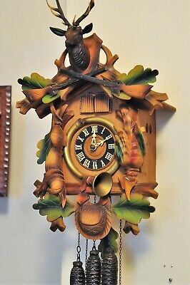 Hunter Style Musical Cuckoo Clock, Blue Danube Waltz; Die Fledermaus; See video