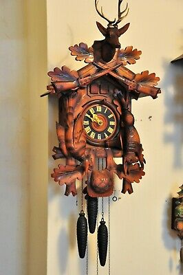 Cuckoo and Quail Style Clock; Works great; 23x14x11, See video,