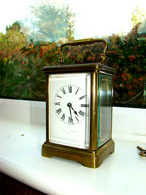 "Mappin & Webb Paris 8 day carriage clock working 6""1/2"" high to top handle"