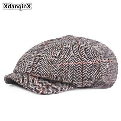 XdanqinX Men's Hat Cotton Retro Newsboy Caps Unisex British Fashion Style