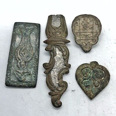 5 Medieval Artifacts Jewelry Decorations Authentic Cross Old European Rare