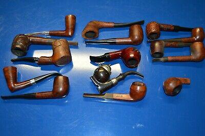 Lot Of 15 Pre-Owned Smoking Tobacco Pipes