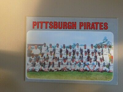 Topps baseball cards 1970 Pirates team # 608