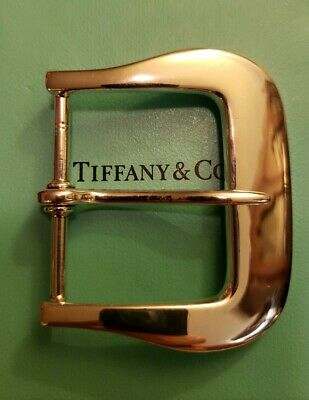 Tiffany & Co. Vintage Stunning Large Heavy Sterling Silver 32 Gram Belt Buckle
