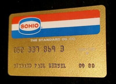 SOHIO Standard Oil Co  - Vintage Credit Card Expired 1980 ♡Free Shipping♡ cc6