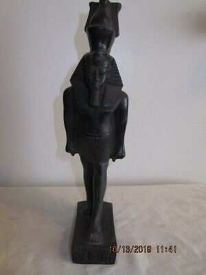 Egypt's Ramses the Great Ebony wood Sculpture with markings,