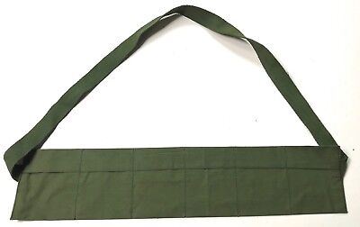 Vietnam War Us Army Small Arms M1 Garand Rifle Canvas Ammo Bandoleer-Od#7
