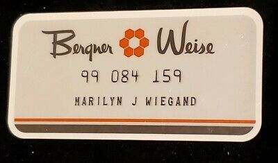 Berger Weis Charge Card♡Free Shipping♡cc274♡ Princess Size