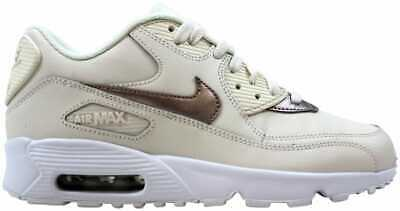 NIKE AIR MAX 90 LTR PS 724822 100 White Cool Grey Leather
