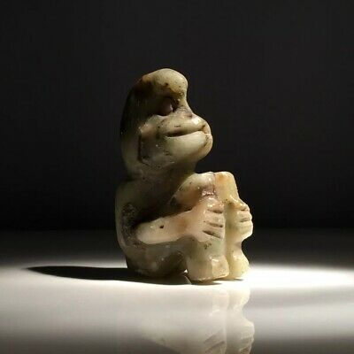 Pre-Columbian Olmec Jade figure from Mexico 400 bc.