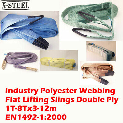 Industry Polyester Webbing Flat Lifting Slings Double Ply 1T-8Tx3-12m Certified