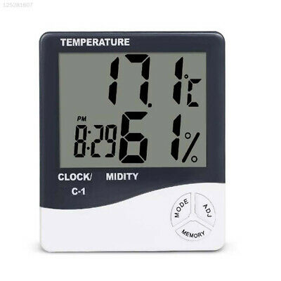 93D2 Plastic Temperature Humidity Alarm Clock Kids Without Battery Portable