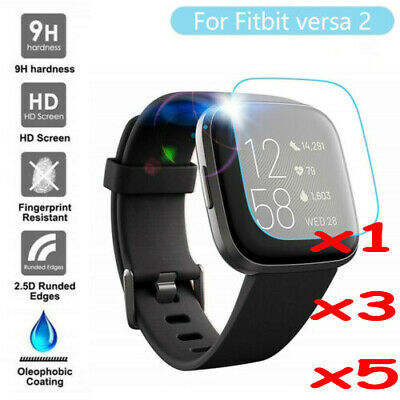For Fitbit Versa 2 Versa Screen Protector 9H Tempered Full Coverage Glass Guard