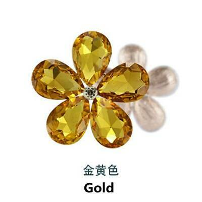 2pcs Crystal Rhinestones Metal Beads Flowers Embellishments Patches Gold DIY