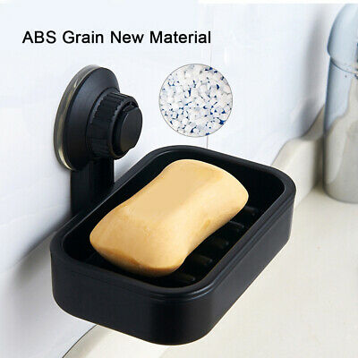 Bathroom Shower Storage Soap Holder Dish Basket Strong Suction Cup Wall-Mount