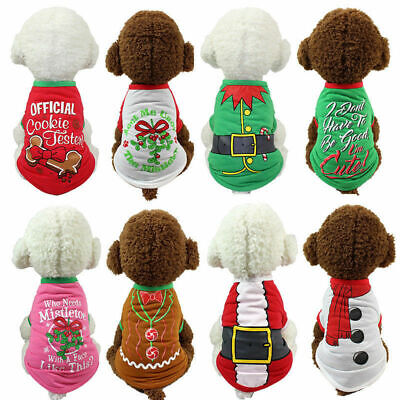 Pet Dog Christmas Santa Sweater Puppy Shirt Clothes Cat Pullover Hoodies Costume