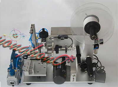 New Semi-automatic Surface Flat Labeling Machine Labeler LT-60+Air Pump 110V