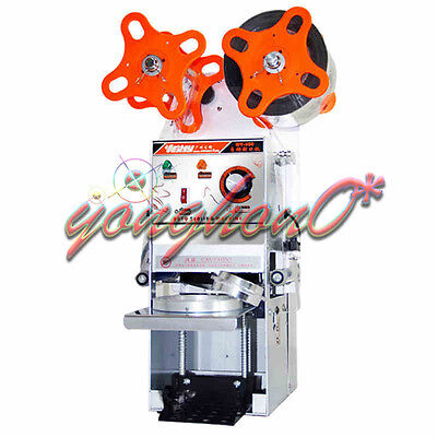 NEW WY-680 Semi-automatic Bubble Tea Cup Sealing machine Juice Cup Sealer 220V