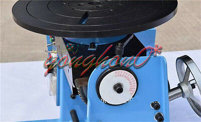 30KG Duty Welding Positioner Turntable Timing Function with 300mm Chuck 110V