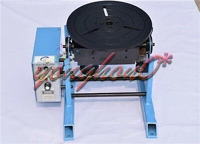 220V 1~15RPM 30KG Duty Welding Positioner Turntable Timing with 200mm Chuck