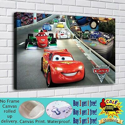 """16""""x26""""Disney Cars Paintings HD Print on Canvas Home Decor Wall Art Pictures"""