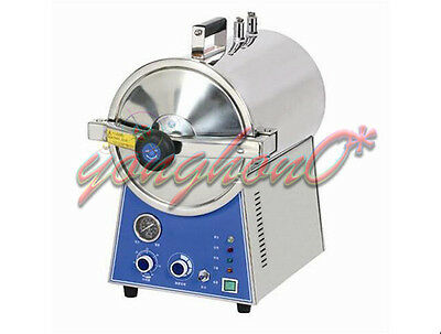 NEW 220V 24L High Pressure Steam Autoclave Sterilizer Stainless Steel Dental Lab