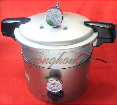 NEW 5L stainless Steam Autoclave Sterilizer Dental Medical Pressure POT