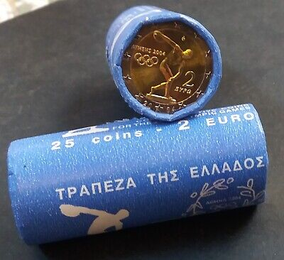 Greece-griechenland-Grecia  2 euro 2004 coins 25 pcs one roll Olympic Games UNC