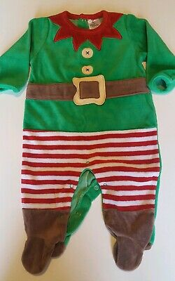 Girls/Boys  Christmas All-In-One Elf Outfit, Age 3-6 Mths, Vgc