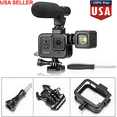US Aluminum Protective Frame Shell Case Cage for GoPro Hero 8 Camera Accessories