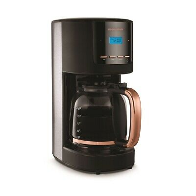 MORPHY RICHARDS Rose Gold Collection 162030 Filter Coffee Machine - Black & Rose