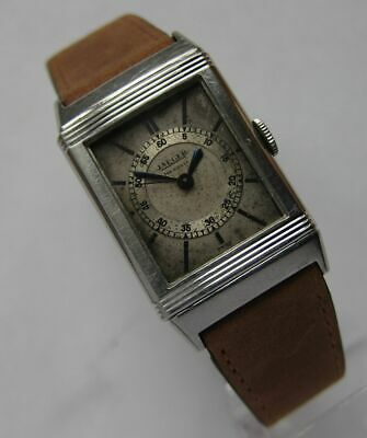 JAEGER LeCOULTRE Reverso Vintage 1933 cult Polo Watch original BOX coultre tank