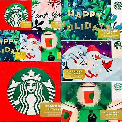 🌲50 New Starbucks 2019 Holiday Christmas Gift Cards Lot