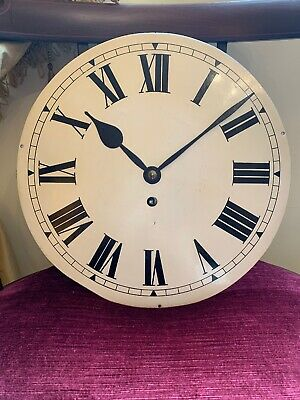 "Victorian Late 1800S 12"" Fusee Clock Dial And Movement + Hands Gwo"