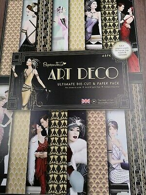 Papermania Art Deco Die-cut & Paper Pack BNIP