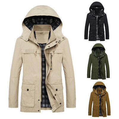 Fashion Mens Hooded Coat Winter Autumn Warm Sports Thermal Tops Hoodies Jacket