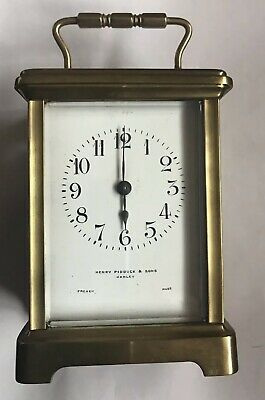 Vintage Brass French Made Carriage Clock Henry Pidduck And Sons Hanley