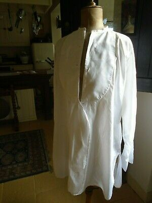 Vintage Collarless Dress / Formal Shirt - Chest 48 Inches - Summit Shirt