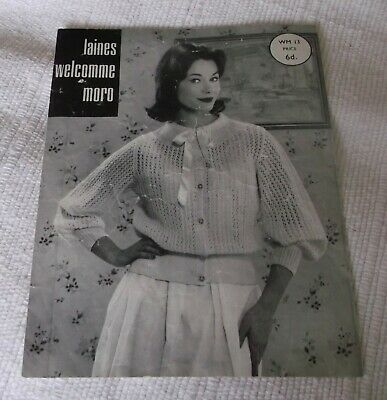 ORIGINAL, VINTAGE, LAINES WELCOMME MORO KNITTING PATTERN No. WM13 BED JACKET