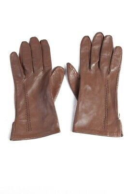Vintage Soft Brown a Pair of Leather Women Gloves G63