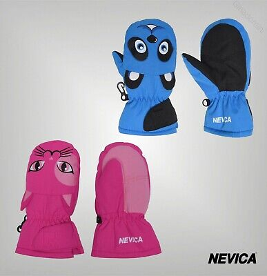Boys Girls Nevica Lightweight Soft Logo Animal Mitten Sizes Age from 1 to 4 Yrs