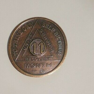 aa alcoholics anonymous bronze 45 year coin token medallion