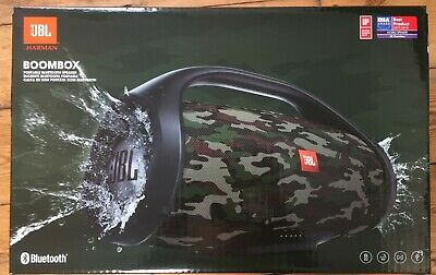 JBL Boombox Portable Bluetooth Speaker in Camouflage *Worldwide Delivery*