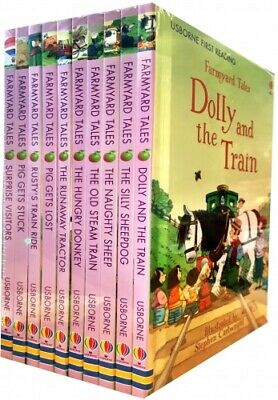 Usborne First Reading Farmyard Tales Collection 10 Books Set (Dolly and the Trai