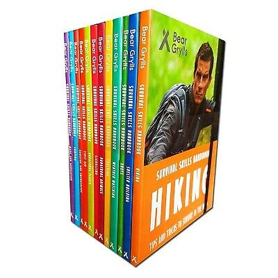 Bear Grylls Survival Skills Handbook Collection Series 1 and 2 - 12 Books Set pa