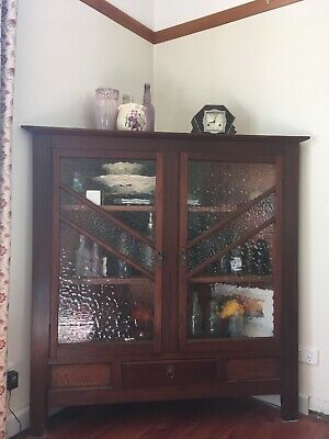 Original, Antique, Art Deco, Vintage corner cupboard, cabinet, storage