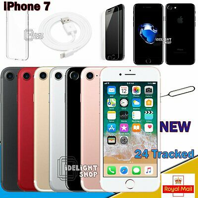 NEW Apple iPhone 7 - 32GB 128GB 256GB - All Colours - UNLOCKED SIM FREE - UK